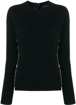 Marc Jacobs embellished fitted sweater