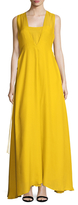ADAM by Adam Lippes Deep V Side Tie Gown