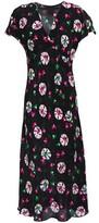Anna Sui Floral-print Silk Crepe De Chine Midi Dress