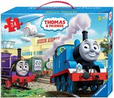Ravensburger Thomas & Friends: At the Airport - 24 pc Floor Puzzle in a Suitcase Box