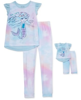 Dollie & Me Saint Eve Girls 4-12 2-Piece Pajama Set With Matching 16in. Doll Set