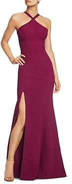 Dress the Population Brianna High-Neck Mermaid Gown