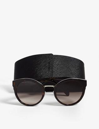 Prada PR05T havana round-frame sunglasses