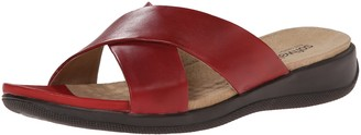 SoftWalk Women's Tillman Black Wedge Sandal 9.5 W