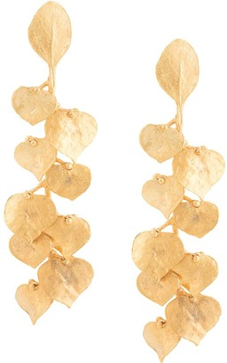 Kenneth Jay Lane Leaf Drop Earrings