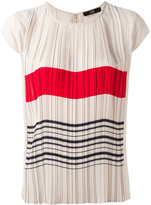 Steffen Schraut stripes print pleated top - women - Polyester - 36
