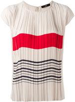 Steffen Schraut stripes print pleated top