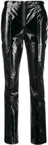 Yang Li polished effect skinny trousers