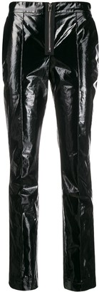 Yang Li Polished Effect Skinny Trousers