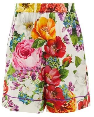 Dolce & Gabbana Floral-print Silk-blend Shorts - Womens - Multi