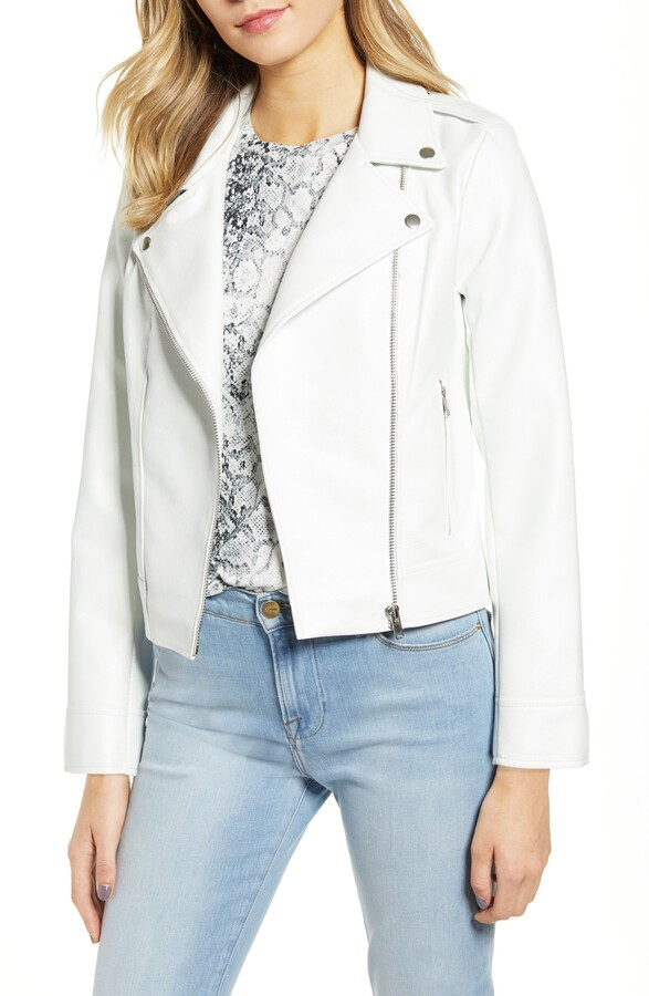 2dcd79918 Faux Leather Moto Jacket