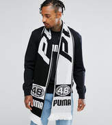 Puma Retro Football Scarf In White Exclusive To Asos