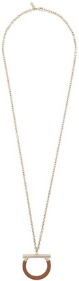 Salvatore Ferragamo Long Ring Necklace