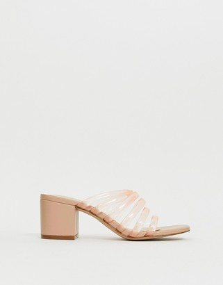 Miista Eeight E8 by pink strappy mid block heeled sandals