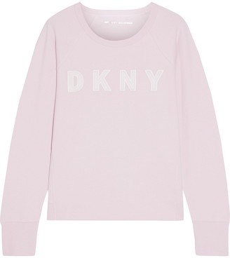 DKNY Appliqued French Cotton-blend Terry Sweatshirt
