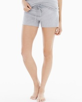 Soma Intimates Cotton Essential Pajama Shorts with Trim Metro Gray Heather