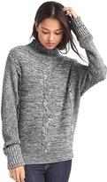 Gap Plait cable knit mockneck sweater