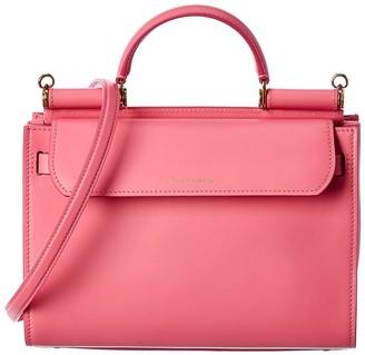 Dolce & Gabbana Sicily 62 Medium Leather Shoulder Bag