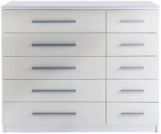 Prague Gloss 5 + 5 Wide Chest of Drawers