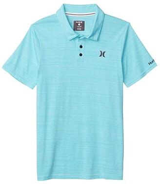 Hurley Streaky Polo Shirt (Big Kids) (Aurora Green) Boy's Clothing