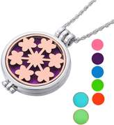 SG Aromatherapy Essential Oil Diffuser Necklace Snowflake Luminous Pendant Locket
