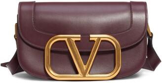 Valentino Supervee Calfskin Leather Crossbody
