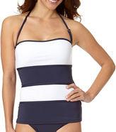 Liz Claiborne Colorblock Bandeaukini Swim Top