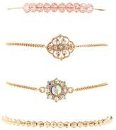 Forever 21 FOREVER 21+ Beaded Charm Bracelet Set