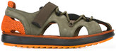 Camper hook and loop sandals