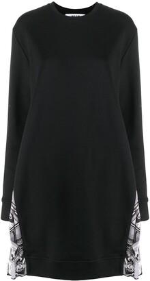 MSGM Pleated Side Panel Sweatshirt Dress