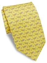 Salvatore Ferragamo Tiger In Hammock Silk Necktie