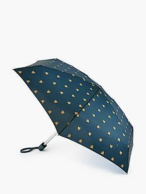 Fulton Freddy Fox Telescopic Umbrella, Navy/Multi