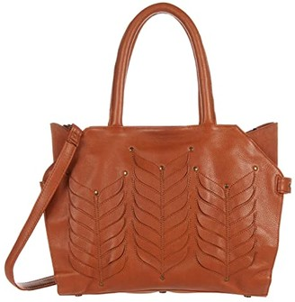 Day & Mood Fia Satchel (Cognac) Handbags