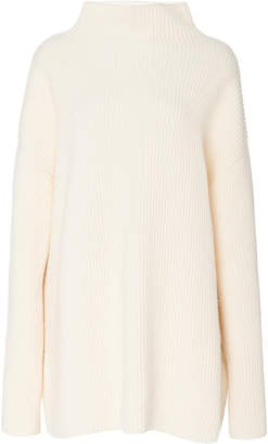 Co Ribbed Wool-Cashmere Blend Turtleneck Sweater