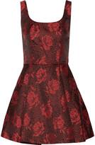 Alice + Olivia Hazeline jacquard mini dress