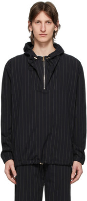 Paul Smith Black Pinstripe Hoodie