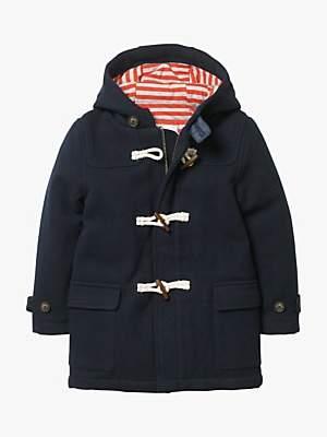 Boden Mini Boys' Duffle Coat, Navy