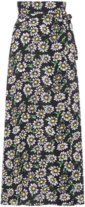 M Missoni Floral-print Crepe Maxi Wrap Skirt