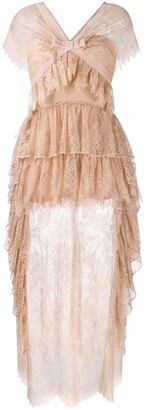 VIVETTA Tiered Lace Dress