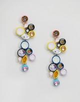 Asos Gem Pop Puzzle Earrings