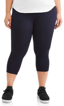 "Athletic Works Women's Plus Size Dri More 19"" Capri Legging"