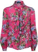 Escada Narcisas Floral Silk Blouse