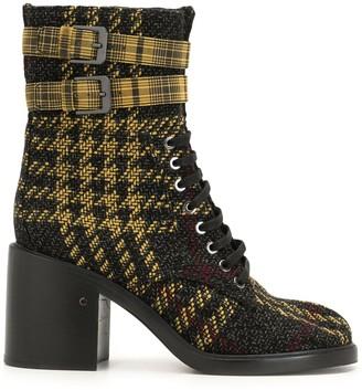 Laurence Dacade Apila check print boots