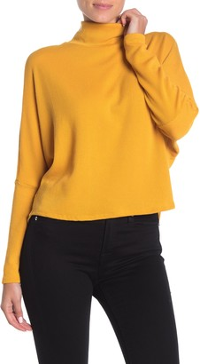Abound Ribbed Mock Neck Dolman Sweater