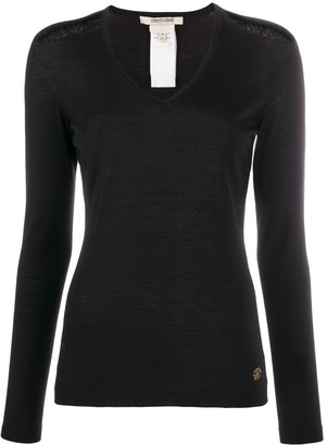 Roberto Cavalli embroidered details knitted jumper