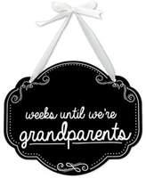 "Pearhead ""Weeks Until Grandparent"" Chalkboard Sign"