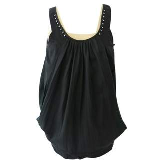 Zucca Black Cotton Top for Women
