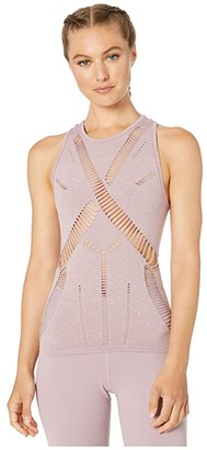 Alo Line Tank (Dusted Plum Heather) Women's Clothing
