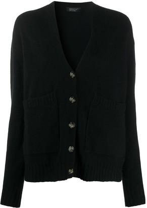 Aragona rib-trimmed V-neck cardigan