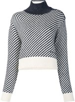 Derek Lam striped knit cropped jumper